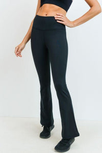 Essential Solid Flare High-Waist Leggings
