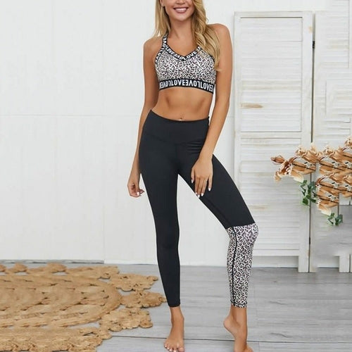 Women's Love Sport Suit Yoga Set