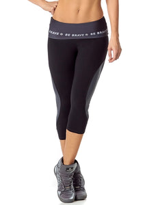 Cropped rhythm black leggings