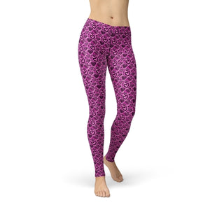 Pink Hearts Leggings