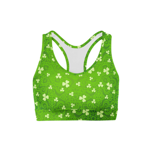 Bright Clovers Sports Bra