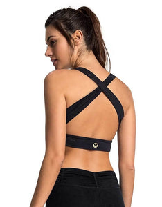 Sports Bra 11 Crossed Black