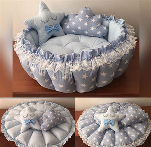Baby Blue Star Pop-Up Bedding