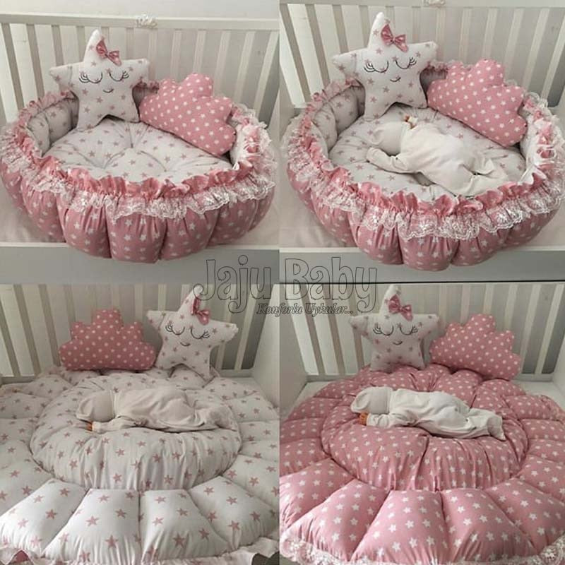 Jaju Baby Pink Star Play Bed