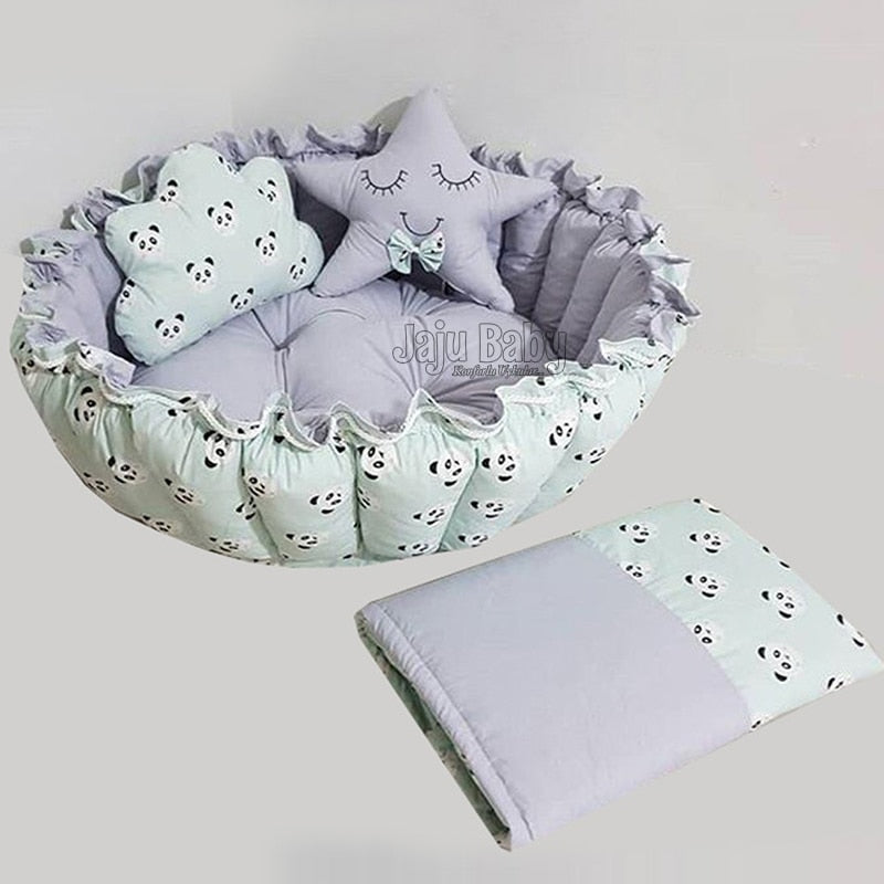 Panda Baby Jaju Roll-Up Play Bed