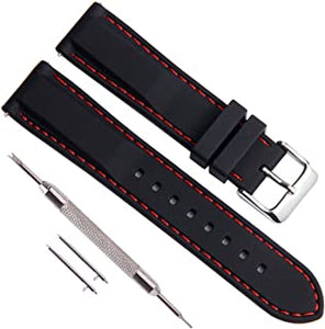 Quick Release Silicone Soft Rubber Watch Strap