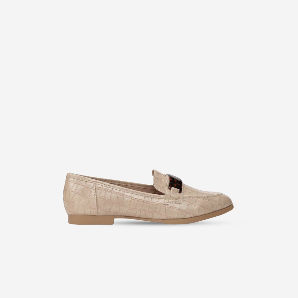 Mocasines Carey beige