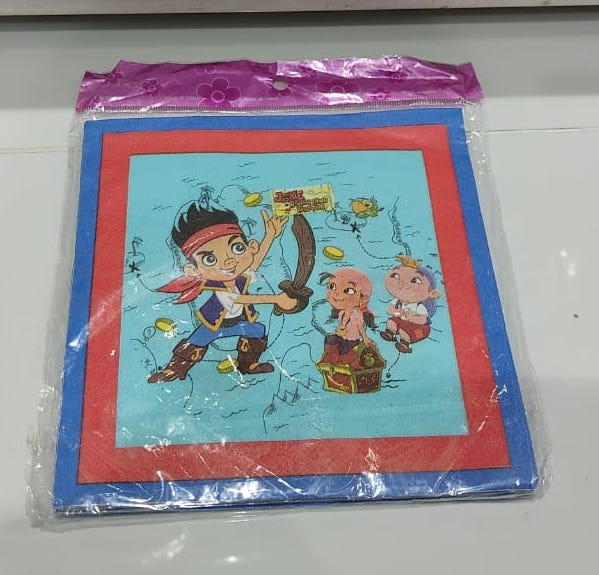 Jake Pirate Napkin
