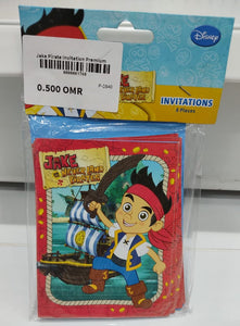 Jake Pirate Invitation Premium