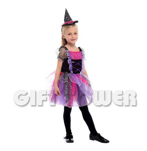 Purple Petal Witch Girl Costume