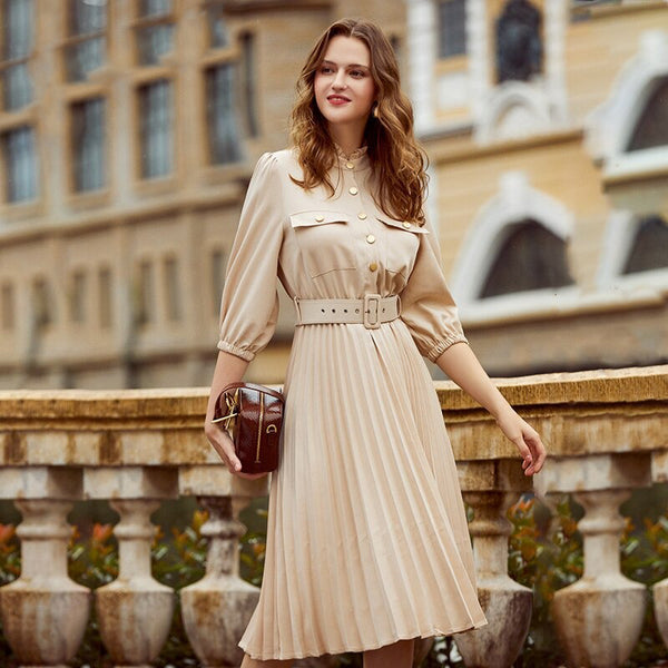 A-line Holiday Female Midi