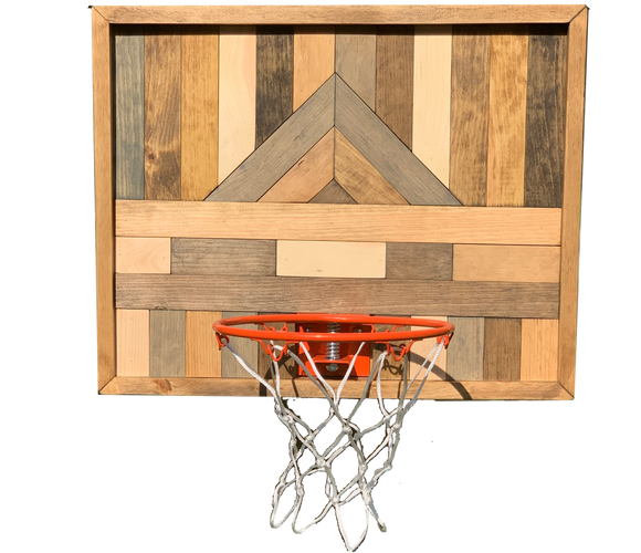 Natural Basketball Hoop Art