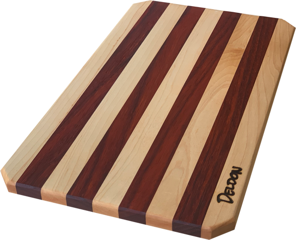 Striped Padauk Charcuterie Board