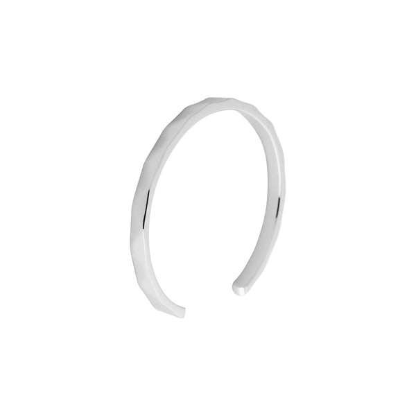 Side Cuff Bracelet | Silver | Facet