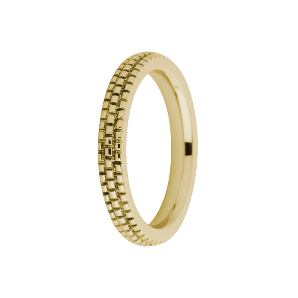 Sarah Side Ring | Refined Engraved | Gold