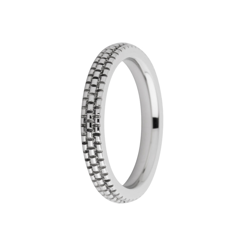 Sarah Side Ring | Refined Engraved | Silver