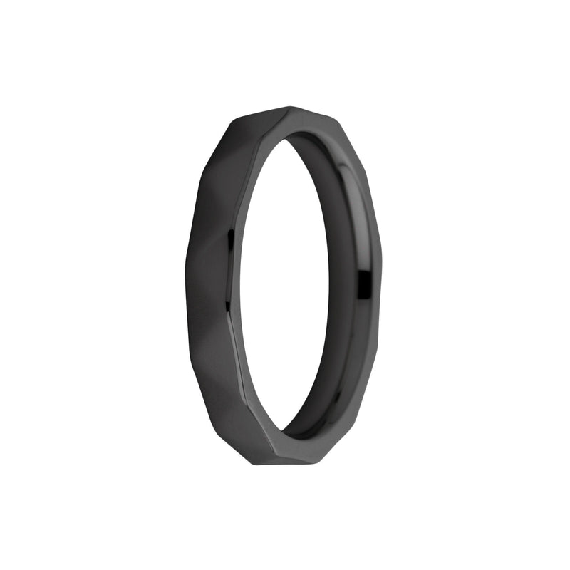 Sarah Side Ring |  Facet | Black