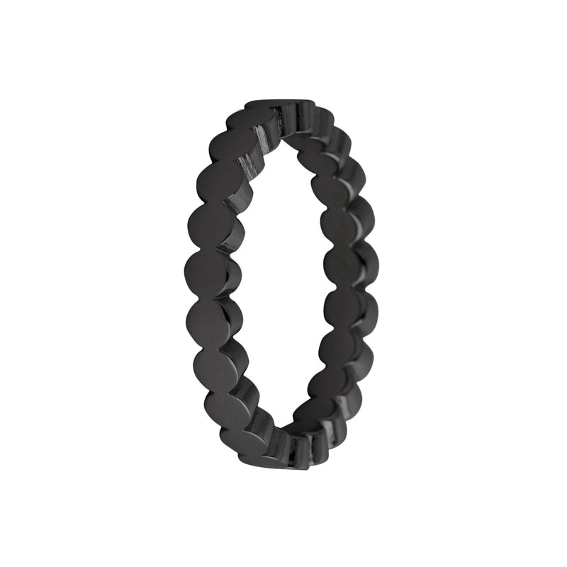 Sarah Side Ring | Wave | Black