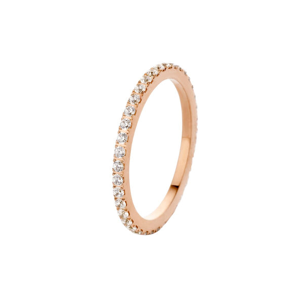 Sade Side Ring | Rose Gold | Crystal