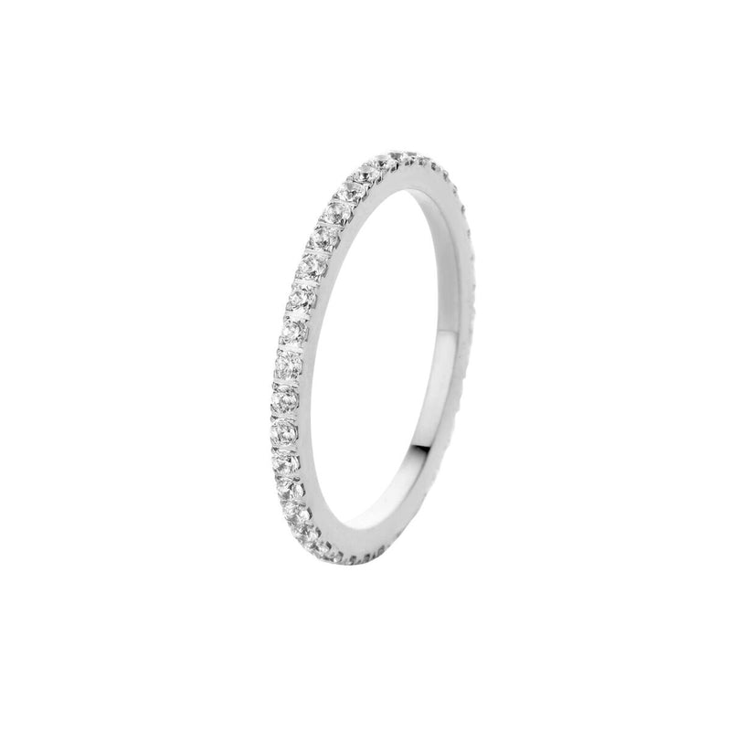 Sade CZ Side Ring | Silver | Crystal
