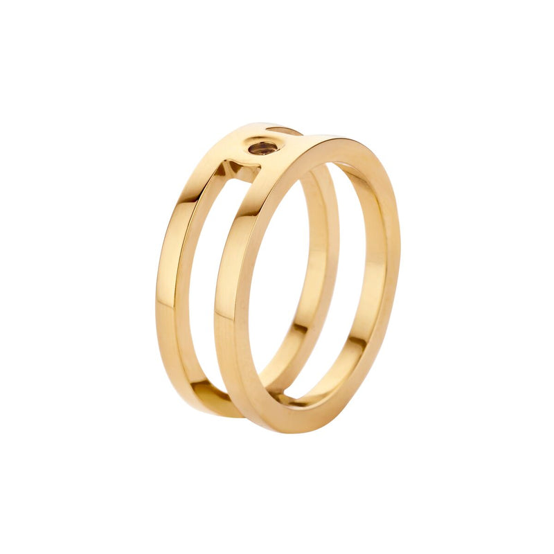 Tina Slider | Gold | Plain Fits Trista Ring