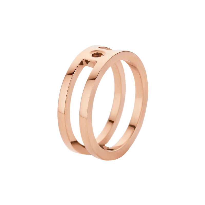 Tina Slider | Rose Gold | Black Fits Trista Ring
