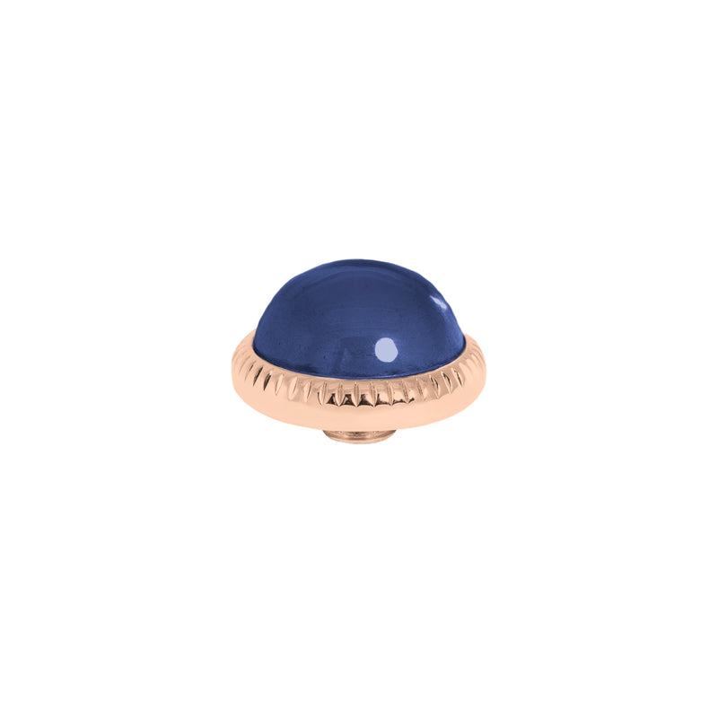 Vivid Low Dome | Rose Gold | Navy Blue