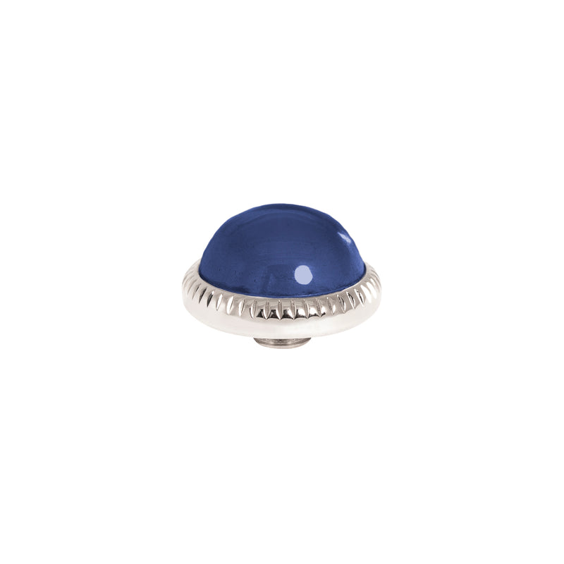 Vivid Low Dome | Silver | Navy Blue