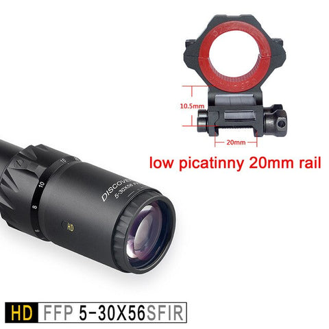 Discovery HD 5-30X56 FFP 34mm Tube First Focal Plane Army Scope with Illumination