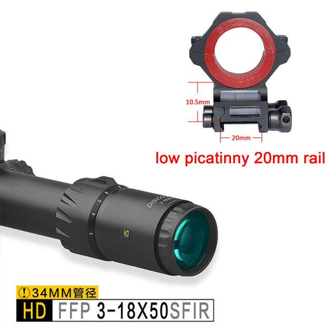 Discovery HD FFP 3-18X50SFIR 34mm Tube Riflescope with Illumination