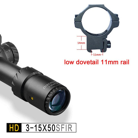 Firearms Riflescopes HD 3-15X50SFIR Disocvery with Illumination High Definition Large Filed of View Hunting
