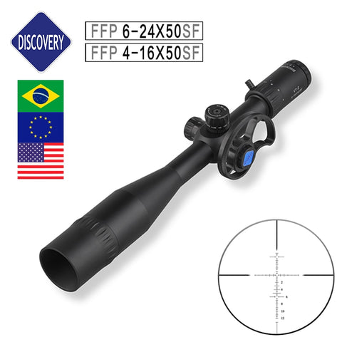 First Focal Plane Discovery FFP 4-16/6-24X50SF Riflescopes with Etched Glass