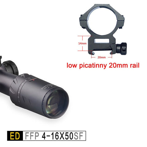 Discovery ED 4-16X50SF Tactical Sights Super High Definition First Focal Plane Imported Glass Lifetime Warranty