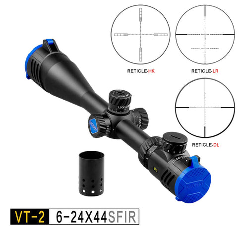 6-24 Sights Scopes Discovery Illuminated for 308 Gun Rifle Optional 3 Kinds of Reticles Glass Etched Reticle