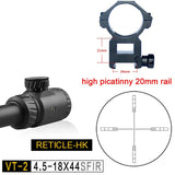 3 Optional Reticles Discovery VT-2 4.5-18 X44 with Illumination Glass Etched .308 Applicable