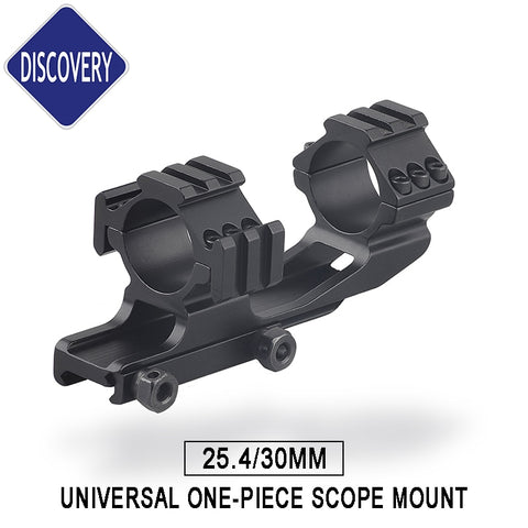 One Piece Mounts Rings 1inch 30mm Tube Tri-rail Three Side 20mm Picatinny Rail Weaver High Recoil
