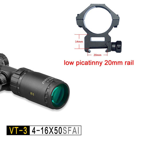 Discovery VT-3 4-16 X50 FFP First Focal Plane Side Focus First Focal Plane Tactical Scope Free Shipping