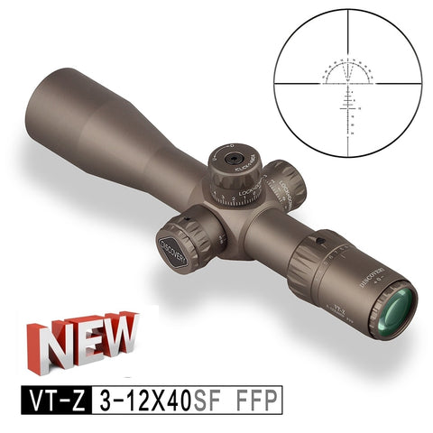 2021 New Discovery Compact Scope VT-Z FFP 3-12X40SF in Brwon