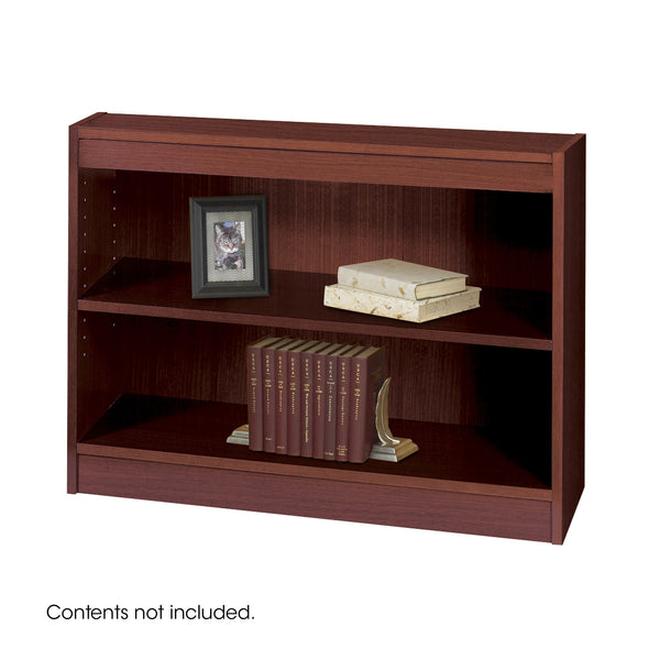 Square-Edge Veneer Bookcase, 2 Shelf, Mahogany