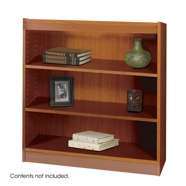 Square-Edge Veneer Bookcase, 3 Shelf, Cherry