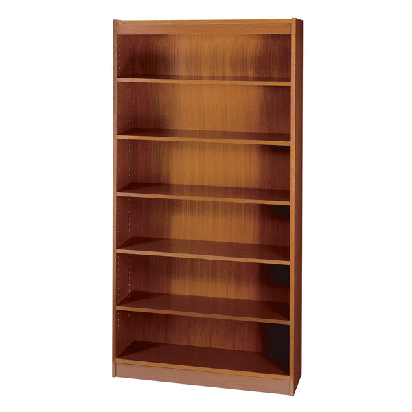 Square-Edge Veneer Bookcase, 6 Shelf, Cherry