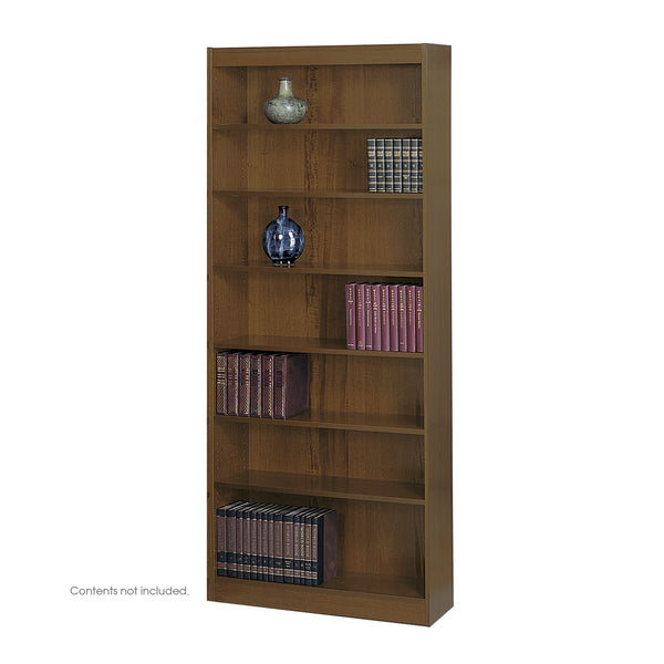 Square-Edge Veneer Bookcase, 7 Shelf, Walnut