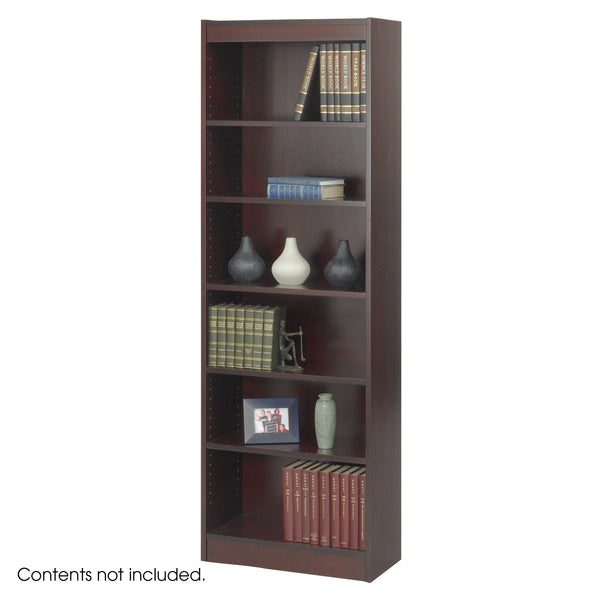 "Veneer Baby Bookcase, 6 Shelf, 24""W, Mahogany"