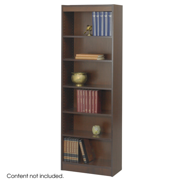 "Veneer Baby Bookcase, 6 Shelf, 24""W, Walnut"