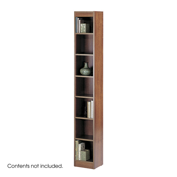 "Veneer Baby Bookcase, 7 Shelf, 12""W, Cherry"