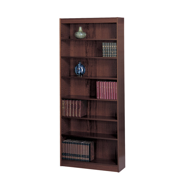 "Veneer Baby Bookcase, 7 Shelf, 30""W, Mahogany"