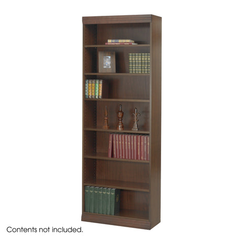 "Veneer Baby Bookcase, 7 Shelf, 30""W, Walnut"