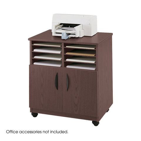 Mobile Machine Stand with Sorter, Mahogany