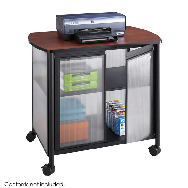 Impromptu® Deluxe Machine Stand with Doors, Black