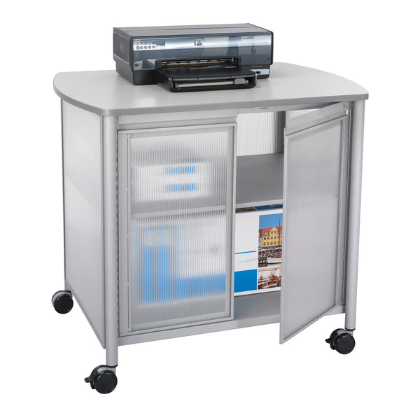 Impromptu® Deluxe Machine Stand with Doors, Gray